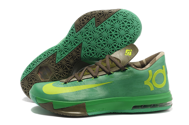 Wholesale Cheap Nike Kevin Durant KD 6 VI Bamboo Gamma Green Flash Lime-Raw Umber-Linen-Deep Smoke - www.wholesaleflyknit.com
