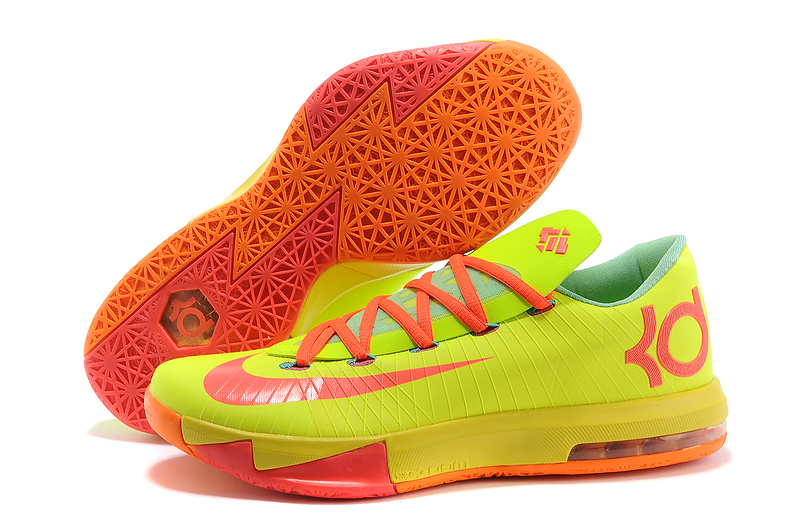 Wholesale Cheap Nike Kevin Durant KD 6 VI Drew League PE Yellow Pink Orange For Sale - www.wholesaleflyknit.com