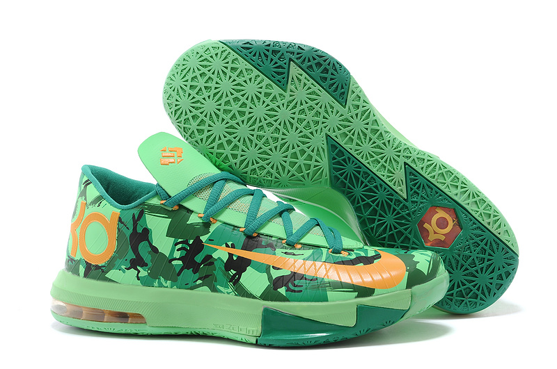 Wholesale Cheap Nike Kevin Durant KD 6 VI Easter Light Lucid Green Atomic Mango-Lucid Green-Gorge Green-Black - www.wholesaleflyknit.com