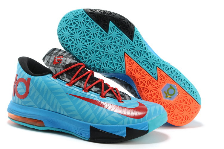 Wholesale Cheap Nike Kevin Durant KD 6 VI N7 Dark Turquoise University Red-Black For Sale - www.wholesaleflyknit.com