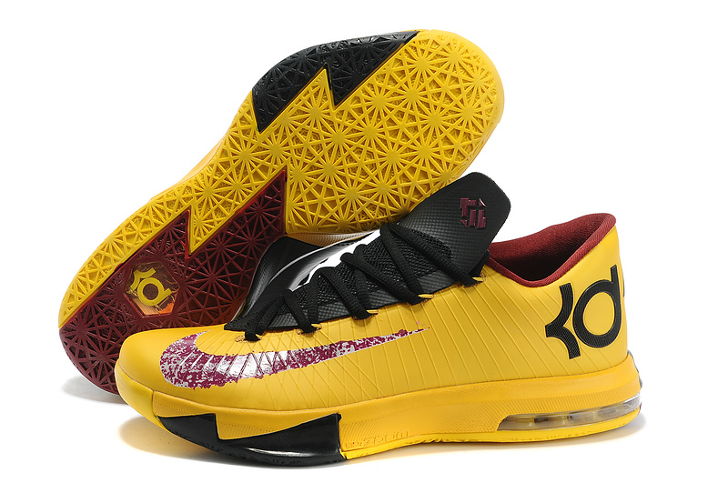 Wholesale Cheap Nike Kevin Durant KD 6 VI PBJ Maze Yellow Dark Purple-Black For Sale - www.wholesaleflyknit.com