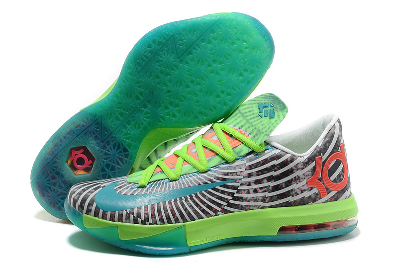 Wholesale Cheap Nike Kevin Durant KD 6 VI Supreme DC Preheat Gamma Blue Dusty Grey-Flash Lime - www.wholesaleflyknit.com