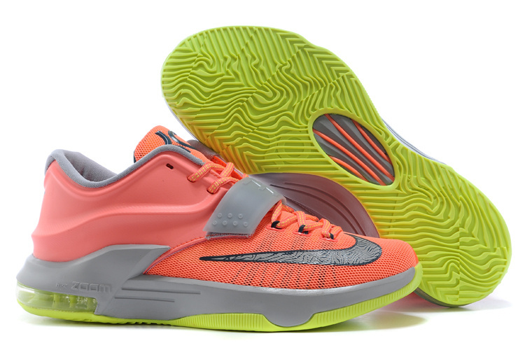 Wholesale Cheap Nike Kevin Durant KD 7 VII 35000 Degrees Bright Mango Space Blue Light Magnet Grey For Sale - www.wholesaleflyknit.com