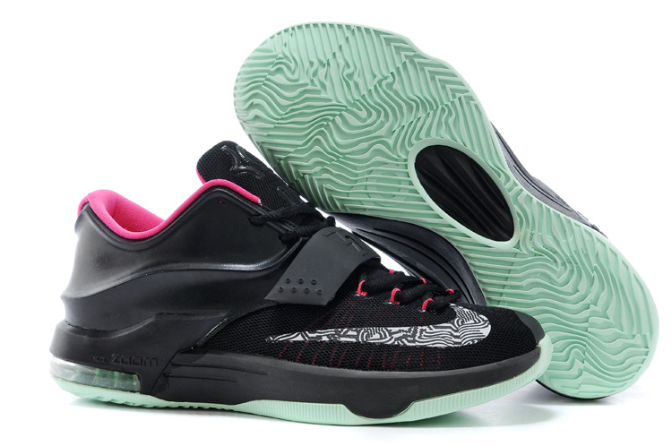 Wholesale Cheap Nike Kevin Durant KD 7 VII Black Yeezy Black Hyper Pink For Sale - www.wholesaleflyknit.com