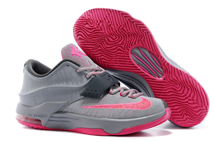 Wholesale Cheap Nike Kevin Durant KD 7 VII Calm Before the Storm Grey Hyper Punch-Light Magnet Grey For Sale - www.wholesaleflyknit.com