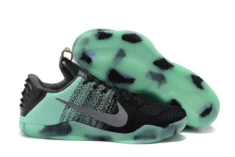 Wholesale Cheap Nike Kobe 11 All-Star Green Glow Black Glow In The Dark For Sale Online - www.wholesaleflyknit.com