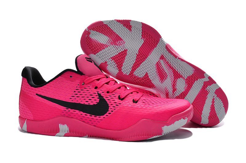 Wholesale Cheap Nike Kobe 11 EM Breast Cancer Pink Black Basketball Shoes - www.wholesaleflyknit.com