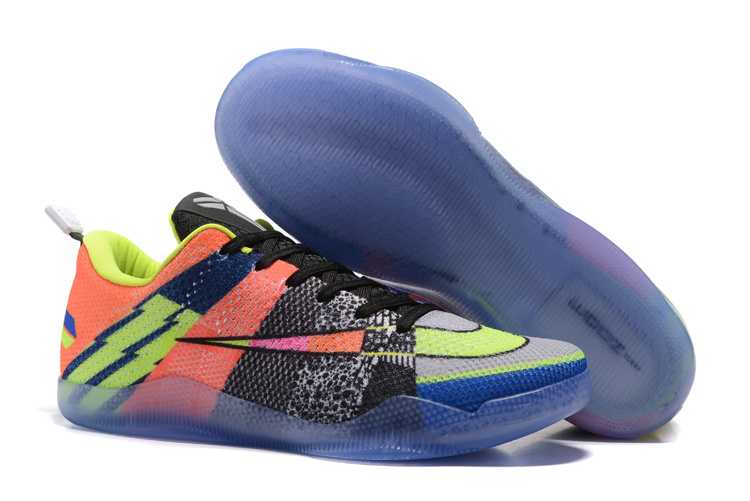 Wholesale Cheap Nike Kobe 11 EM Mambacurial Pink Flash Action Green-Red Plum 2016 - www.wholesaleflyknit.com