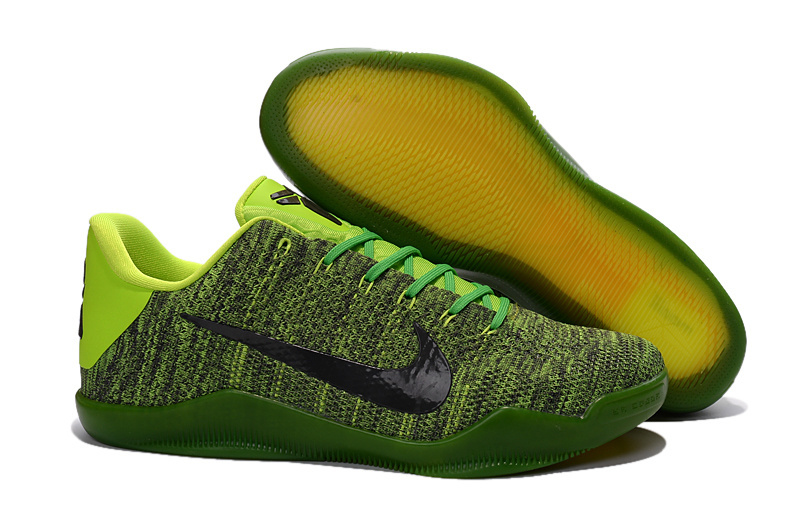 Wholesale Cheap Nike Kobe 11 Elite Black Green Basketball Shoes For Sale - www.wholesaleflyknit.com