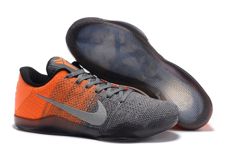 Wholesale Cheap Nike Kobe 11 Elite Low Easter Grey Orange For Sale Online - www.wholesaleflyknit.com