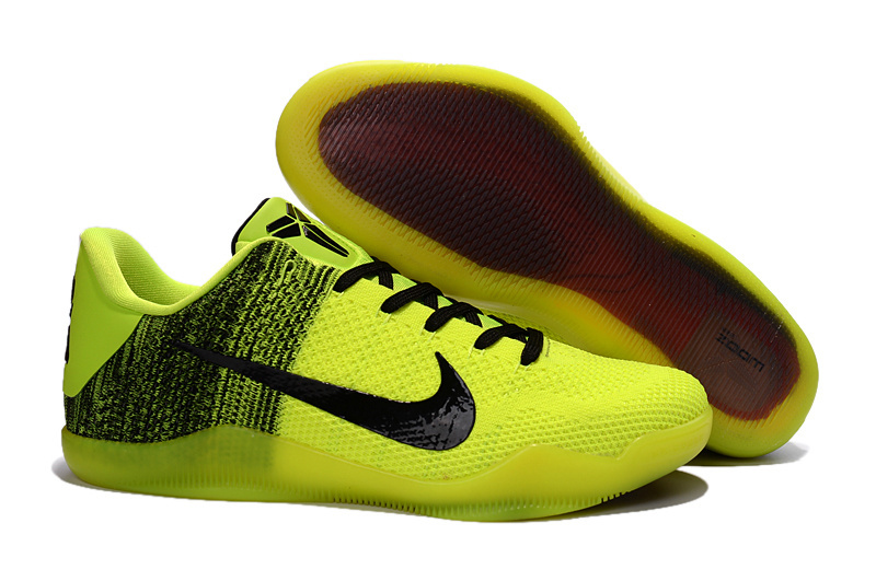 Wholesale Cheap Nike Kobe 11 Green Black-Volt Basketball Shoes For Sale - www.wholesaleflyknit.com
