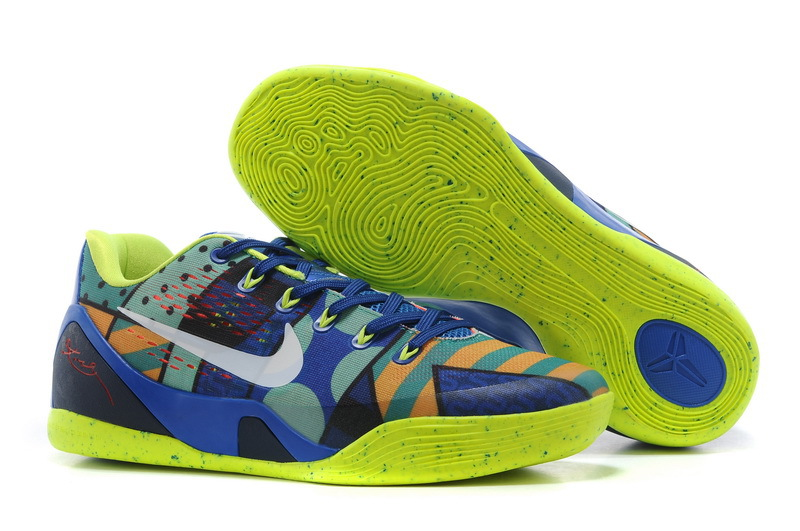 Wholesale Cheap Nike Kobe 9 EM Brazil Game Royal White-Venom Green For Sale - www.wholesaleflyknit.com
