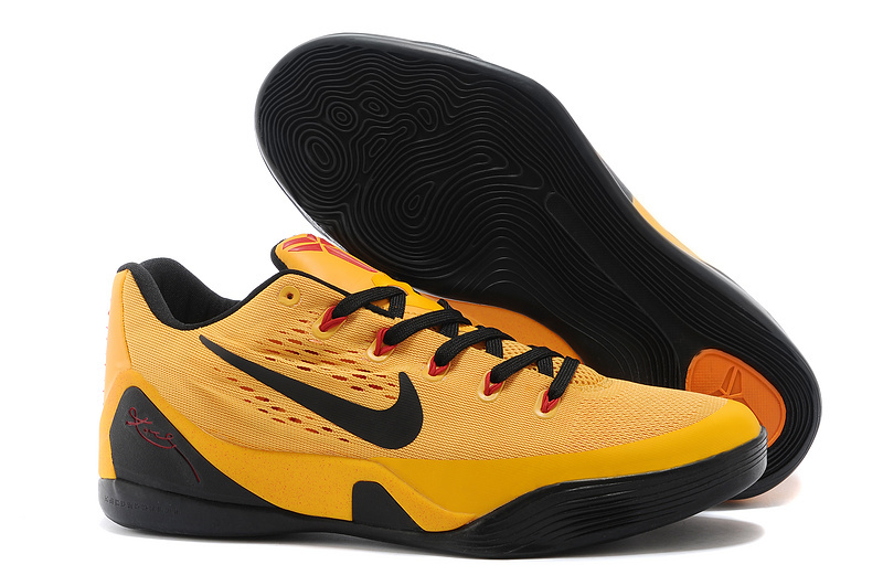 Wholesale Cheap Nike Kobe 9 EM Bruce Lee University Gold Black-Laser Crimson For Sale - www.wholesaleflyknit.com