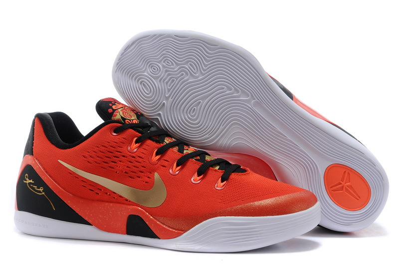 Wholesale Cheap Nike Kobe 9 EM China University Red Metallic Gold-Black For Sale - www.wholesaleflyknit.com