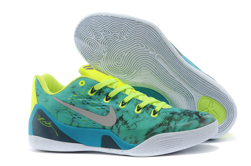 Wholesale Cheap Nike Kobe 9 EM Easter Turbo Green Metallic Silver-Volt-Black For Sale - www.wholesaleflyknit.com