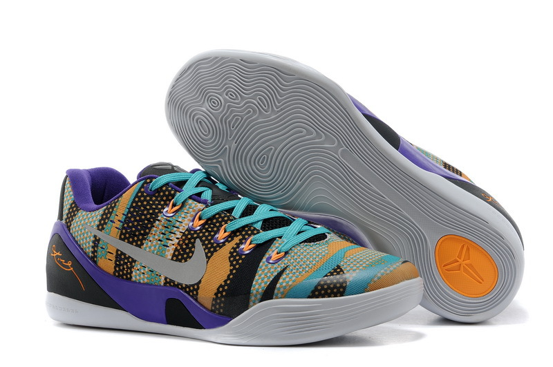 Wholesale Cheap Nike Kobe 9 EM Unleashed Court Purple Reflective Silver-Atomic Mango-Turquoise For Sale - www.wholesaleflyknit.com