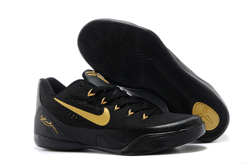Wholesale Cheap Nike Kobe 9 Low EM Black Gold For Sale Online - www.wholesaleflyknit.com