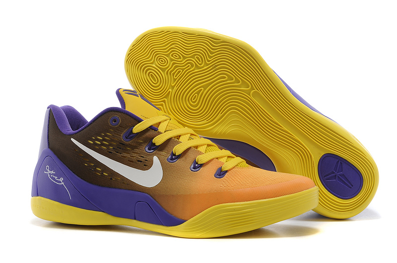 Wholesale Cheap Nike Kobe 9 Low EM Court Purple Yellow-White For Sale - www.wholesaleflyknit.com