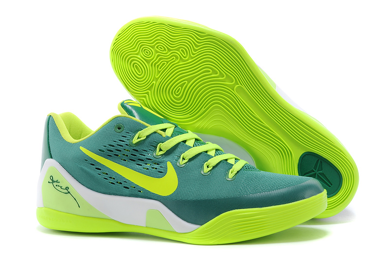Wholesale Cheap Nike Kobe 9 Low EM Green Neon Green For Sale - www.wholesaleflyknit.com