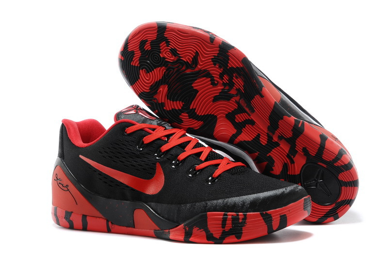 Wholesale Cheap Nike Kobe 9 Low EM XDR Black Red For Sale - www.wholesaleflyknit.com
