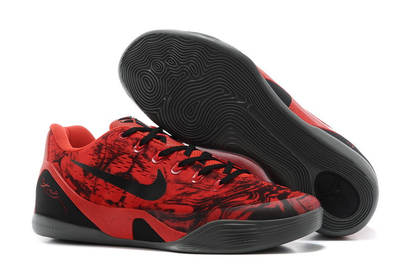 Wholesale Cheap Nike Kobe 9 Low EM XDR Red Black For Sale Online - www.wholesaleflyknit.com