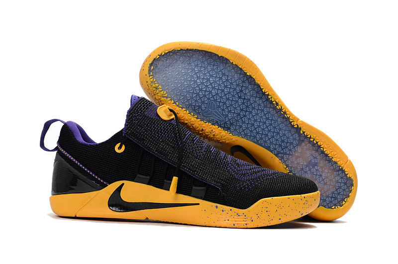 Wholesale Cheap Nike Kobe A.D. NXT Black Purple Yellow For Sale - www.wholesaleflyknit.com