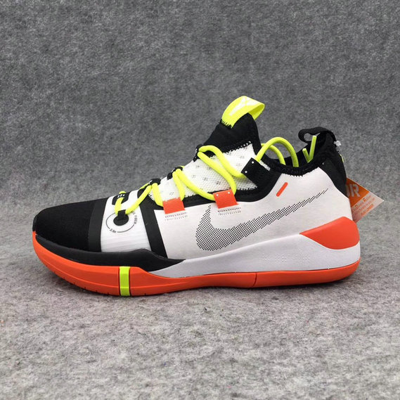 Cheap Wholesale Nike Kobe AD White Black Yellow Orange - www.wholesaleflyknit.com