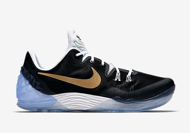Wholesale Cheap Nike Kobe Venomenon 5 EP Bryant Black Gold 2016 For Sale - www.wholesaleflyknit.com