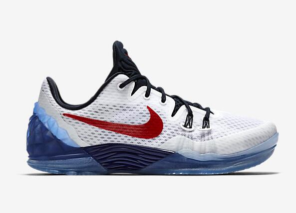 Wholesale Cheap Nike Kobe Venomenon 5 USA White Team Red-Midnight Navy 2016 For Sale - www.wholesaleflyknit.com
