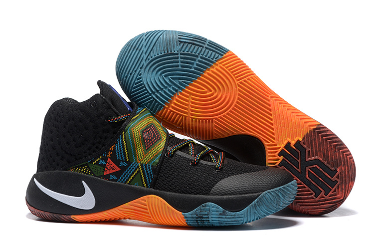 Wholesale Cheap Nike Kyrie 2 BHM Black Multi-Color Multi-Color - www.wholesaleflyknit.com