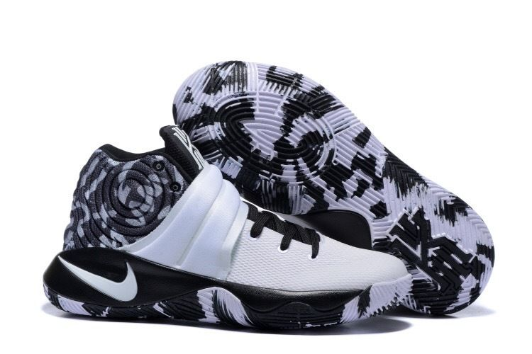 Wholesale Cheap Nike Kyrie 2 Black White Basketball Shoes - www.wholesaleflyknit.com