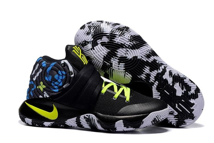 Wholesale Cheap Nike Kyrie 2 Camo Black Neon Green Basketball Shoes - www.wholesaleflyknit.com