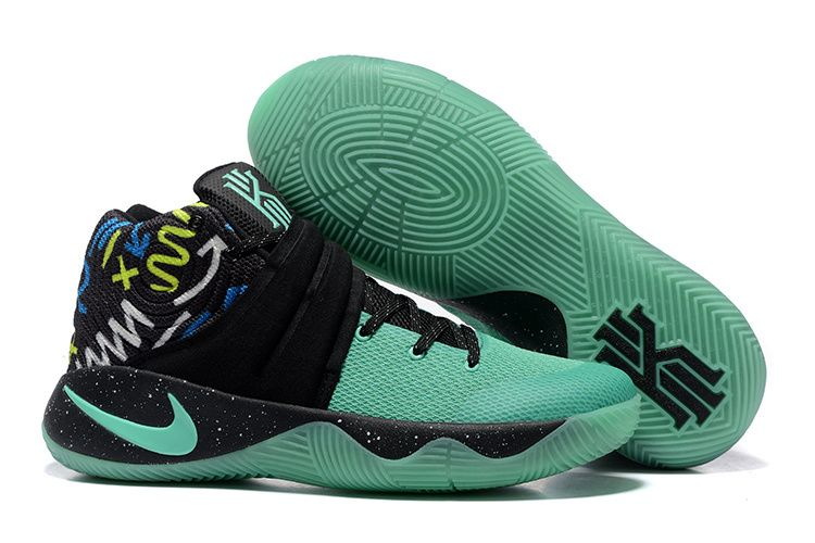 Wholesale Cheap Nike Kyrie 2 Mint Green Black Glow In The Dark Sole - www.wholesaleflyknit.com
