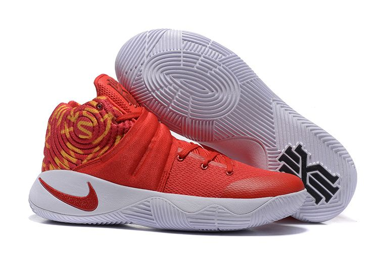 Wholesale Cheap Nike Kyrie 2 Red White Basketball Shoes - www.wholesaleflyknit.com