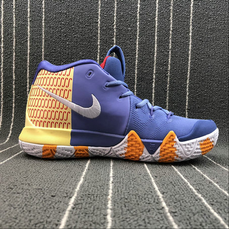 Wholesale Nike Kyrie 4 London AR6189-50 Purple Yellow Red White Yellow Haune Pourpre Rouge Blanc On www.wholesaleoffwhite.com