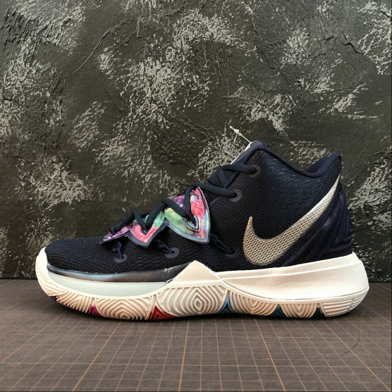 Wholesale Nike Kyrie 5 EP AO2919-900 Multi Color Metallic Silver Couleur Multiple-www.wholesaleflyknit.com