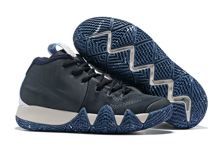 Wholesale Nike Kyrie Irving 4 Cheap Black Deep Blue White On www.wholesaleoffwhite.com