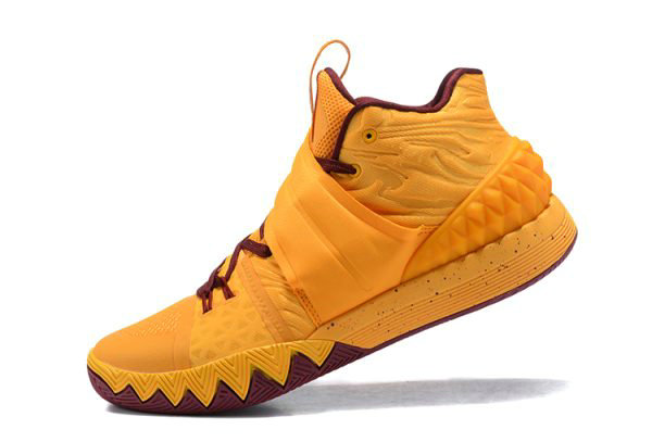 Cheap Wholesale Nike Kyrie S1 Hybrid Cavs Yellow Wine Red Basketball Shoes - www.wholesaleflyknit.com