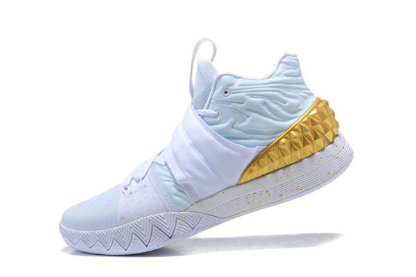 Cheap Wholesale Nike Kyrie S1 Hybrid White Metallic Gold Mens Size Free Shipping - www.wholesaleflyknit.com