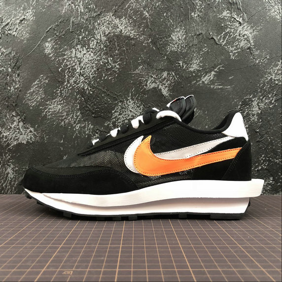 Wholesale Nike Ldv Waffle Sacai 884691-001 Black White Orange Noir- www.wholesaleflyknit.com