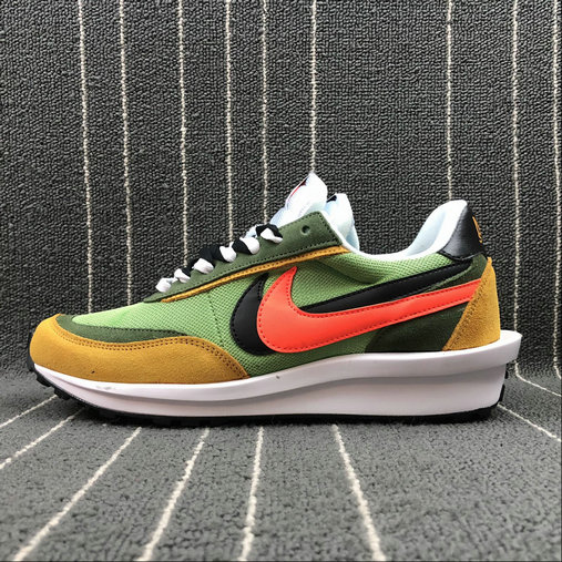 Wholesale Nike Ldv Waffle Sacai AR8001-003 Green Orange White Vert- www.wholesaleflyknit.com