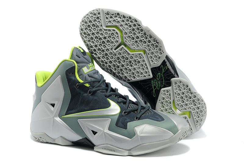 Wholesale Cheap Nike LeBron 11 Dunkman Mica Green Sea Spray-Dark Mica Green-Volt - www.wholesaleflyknit.com