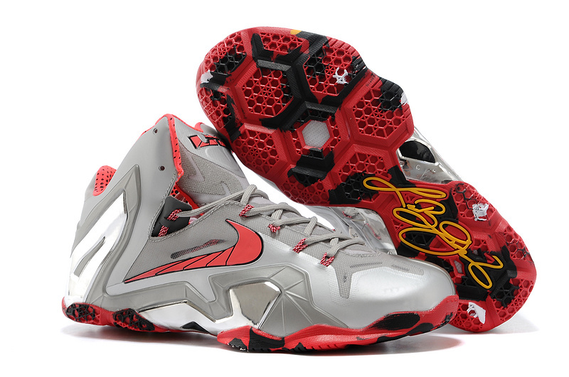 Wholesale Cheap Nike LeBron 11 Elite Team Wolf Grey Crimson-Cool Grey-Black For Sale - www.wholesaleflyknit.com