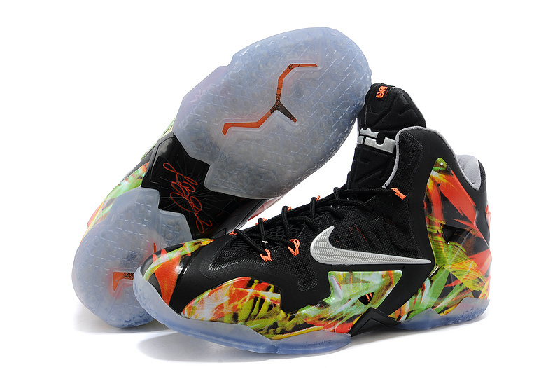 Wholesale Cheap Nike LeBron 11 Everglades Black Metallic Silver-Wolf Grey-Atomic Mint For Sale - www.wholesaleflyknit.com