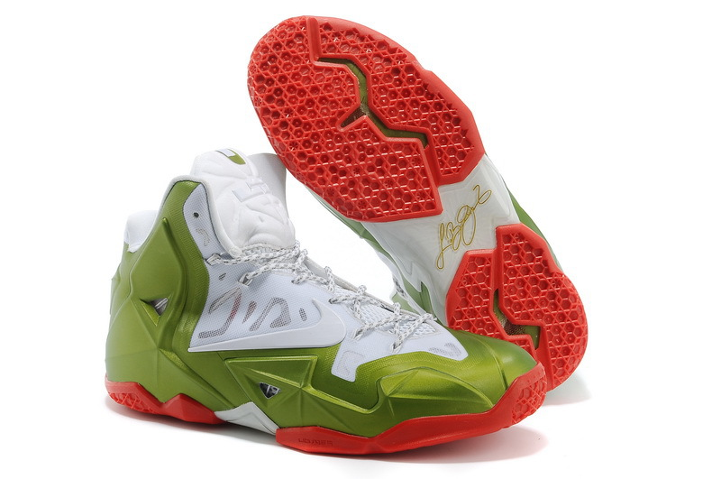 Wholesale Cheap Nike LeBron 11 Gold Medalist White Gold Medal-Red For Sale - www.wholesaleflyknit.com