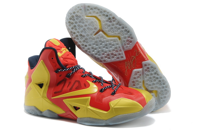 Wholesale Cheap Nike LeBron 11 Ring Ceremony PE Sport Red Metallic Gold-Black For Sale - www.wholesaleflyknit.com