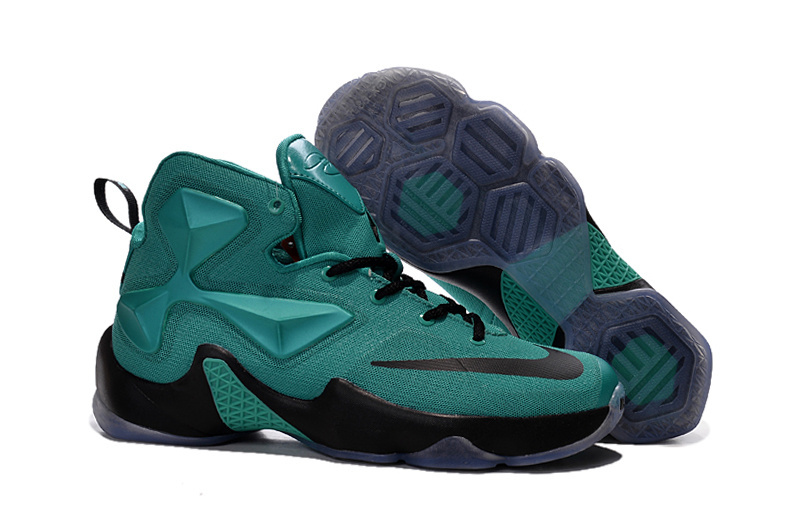 Wholesale Cheap Nike LeBron 13 Hyper Turquoise Black Metallic Basketball Shoes For Sale - www.wholesaleflyknit.com