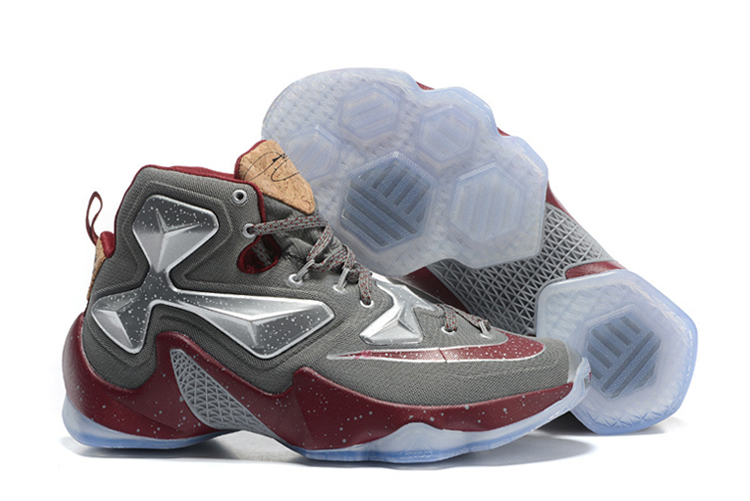 Wholesale Cheap Nike LeBron 13 Opening Night Fine Wine Wolf Grey Basketball Shoes - www.wholesaleflyknit.com