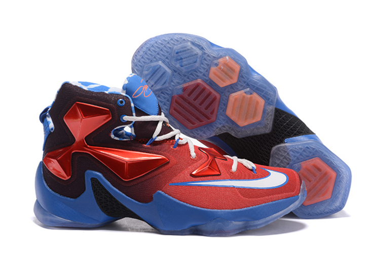 Wholesale Cheap Nike LeBron 13 USA Red White-Blue Basketball Shoes - www.wholesaleflyknit.com