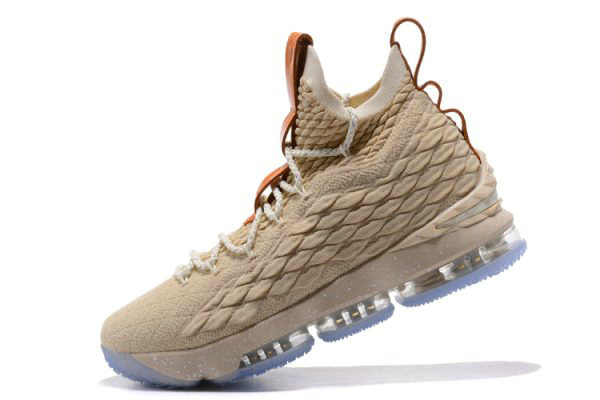 Cheap Wholesale Nike LeBron 15 Ghost String Vachetta Tan-Sail Basketball Shoes 897648-200 - www.wholesaleflyknit.com